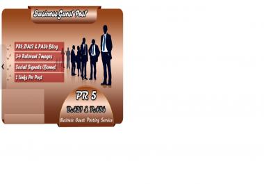 live guest post on PR5 DA27 PA36 Business blog