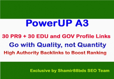 60 PR9 Authority Links & 15 Edu Backlinks to Skyrocket Website