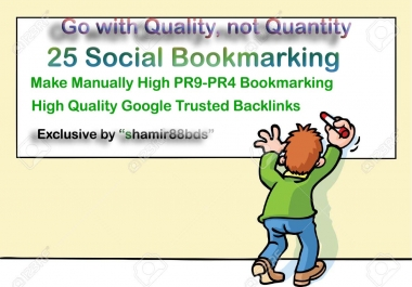 Manual 30 High Authority Social Bookmarking from HIGH DA60-DA100 or PR9-PR6