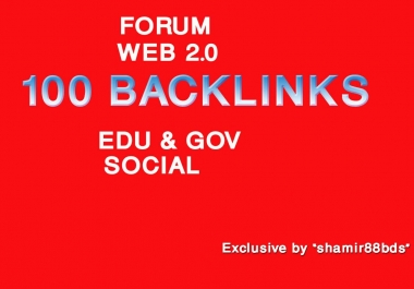 Manually 100 Authority Profile, Forum, Web 2.0, Edu Profile & Social Profile - DA55-100