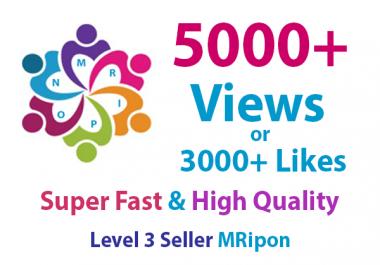 4000+ HQ Photo Likes or 5000+ Video Views