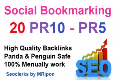 20 High PR Do Follow Social Bookmarks