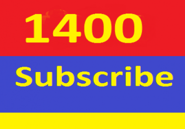 Non Drop 1400+ Y ouTube  s ubscribers