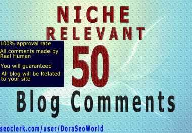 I will do 50 Niche Relevant Blog comments Backlinks