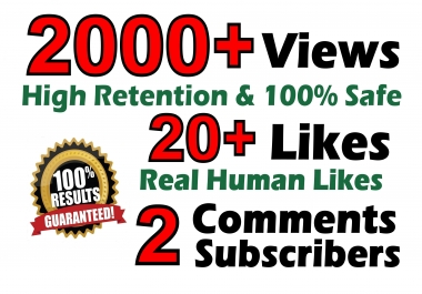 Youtube 2000+ Vieews 20+ Real Llkes 2 Real C0ments SEO Optimized Fast