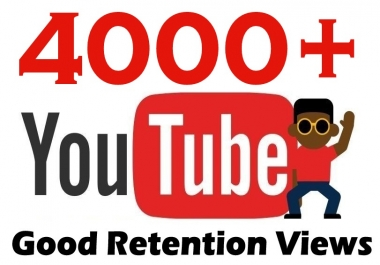 4000+ HQ Youtube Views adsense Safe A+ Brand Service updated
