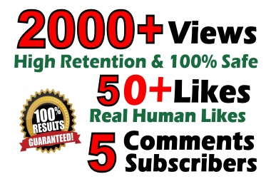 Youtube 2000+ Vieews 50+ Real Llkes 5 Real C0ments Lifetime Guaranteed