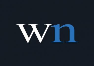 Publish your Guest post on WN.com DA 84
