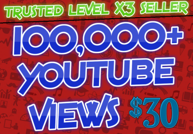 Provide 100,000+ High Quality YouTube Views Within 48-72 Hours
