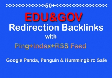 Make 50 Edu and Gov Redirect Backlinks(PR10-PR5) with Ping+Index