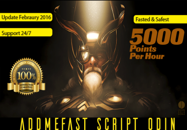 5000 Points Per Hour SuperAddmefast Script Odin Unlimited Points Daily 10k 30k 100k