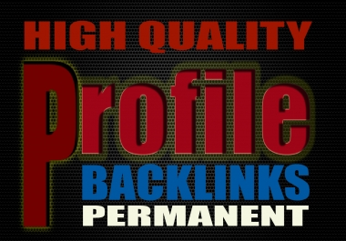 Google Rank with 100+ High DA Manual Dofollow Profile Backlinks 2017-2018