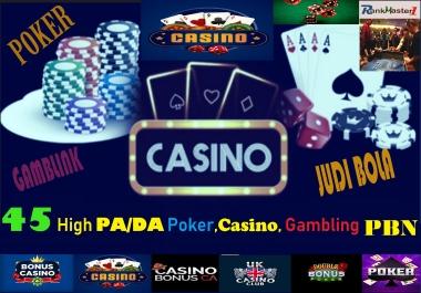 45 Powerful PA 60+ Casino,Gambling,Poker PBN Links