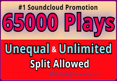 Get Started Instant 65,000 World OR, 6500 USA High Retention Soundcloud Plays  and 300 Likes +50 Repost +05 Comments