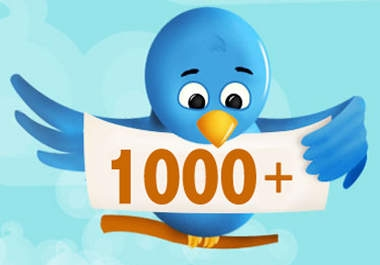 I will get you 1000+ twitter followers