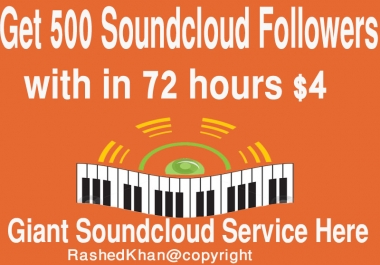 Provide you 500 Soundcloud Followers