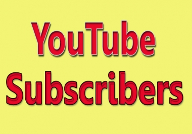 Provide You 100+ YouTube Subscribers FAST