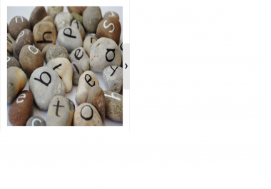 make a unique message from natural coloured stones for a gift or promotions