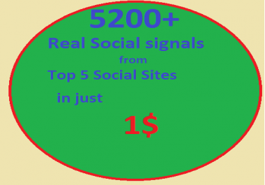 5200 Real SEO Social Signals including PR9 Google plus ones LinkedIn shares Pinterest signals Twitter social bookmark