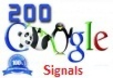 200 Real Google SEO Social Signals with split also available