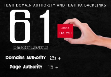I will do Domain authority and Page authority Backlinks