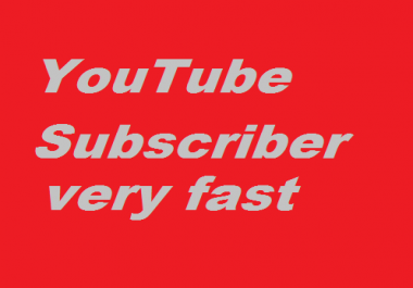 Safe 2000+High Quality YouTube Subscriber  Very Fast