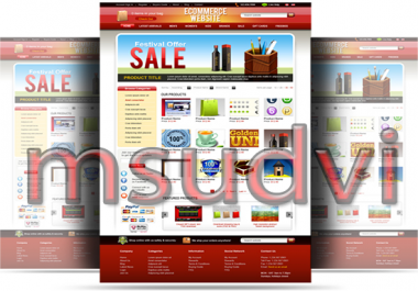 I will create an Awesome  Responsive eCommerce website