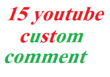 Gate 30 YouTube custom comment or 10 YouTube comment like 1hours delivered supre fast