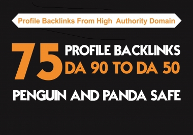 I will manually build 75 DA 90 PLUS profile BACKLINKS