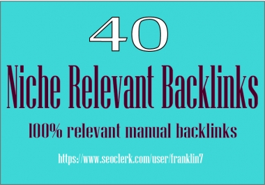 I will do 40 High Authority Niche Relevant blogcomments backlinks