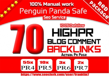 I will do manually create Panda safe real high Authority Pr 4to7 backlinks