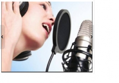 use my Female American Voice to record a Professional Voice Over in English