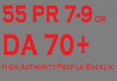 Google Influencing 55 High Authority Profile Backlink from 60+ DA PA