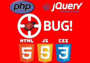 Fix html, css, javascript, php  bugs