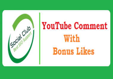 Fast 35 YouTube Custom Comments With 35 Like free on your link