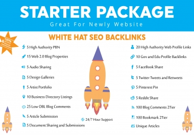All in one White Hat SEO Package with PBNs, Web.2.0, EDU,Article,Business,Social Media,and more just