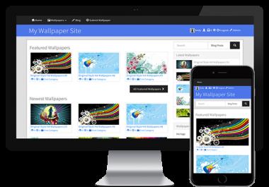 Make You a Modern 4K UHD Wallpaper Site