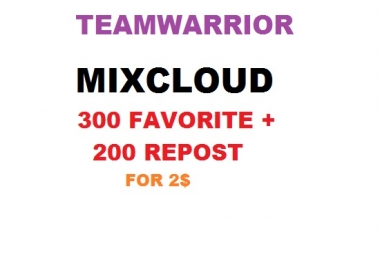 mixcloud 150 favorited + 100 reposted