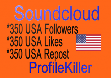 Soundcloud USA 350 Likes Or 350 Repost Or 350 Followers