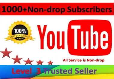 I will give you  1000+ Real Non-Drop Subscribers  For your Channel