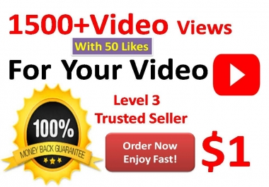 Get 2000 + YouTube Non-drop video views with 20+ Likes  or 20 custom comments on video