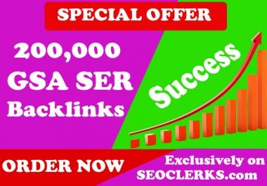 200,000 GSA SER Verified Backlinks for SEO Ranking
