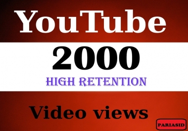 Provide You 1500-2000High Quality HR Youtube Vi ews