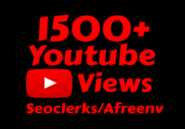 i will add 1500 High Quality views & 100 Likes