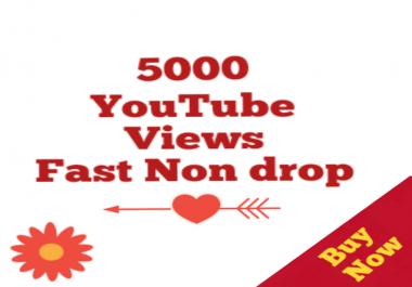 5000-5500 HQ Non drop Youtube Vi ews Bonus 12/24 Hours super speed