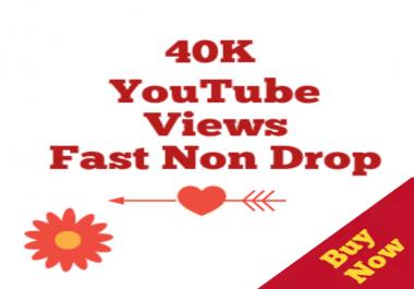 40000-40500 HQ Non drop Youtube Vi ews+05 Lik es Bonus super speed within 12-72 hours