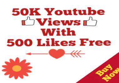 50,000+HQ Non drop High Retention Views Bonus super speed within 12-48 hours