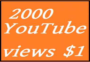 2500 3000  YouTube v1ews very fast start 24-72 hours delivered