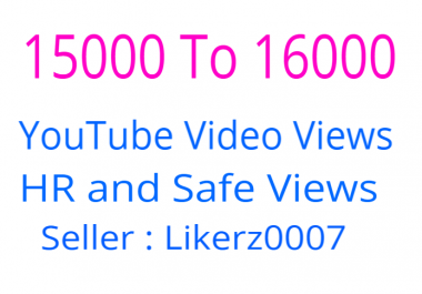 I Will Add 15000 To 16000 Retention and Safe YouTube Video Promotion