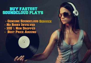 Super Sale 1 Million Soundcloud Plays Fast 30 likes,30 repost & 30 comments
